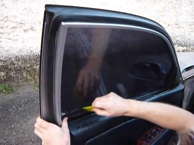 Процесс установки съемной тонировки на автомобиль ВАЗ 2114