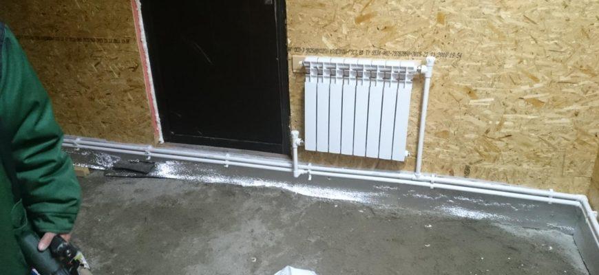 Водяное отопления в гараже своими руками
